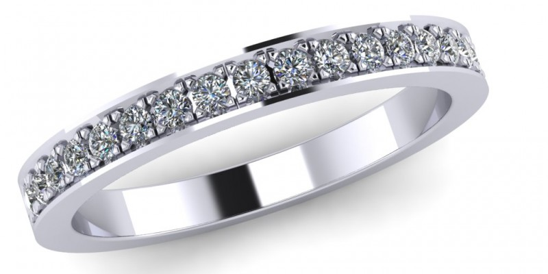17 Stone  Platinum Eternity Ring