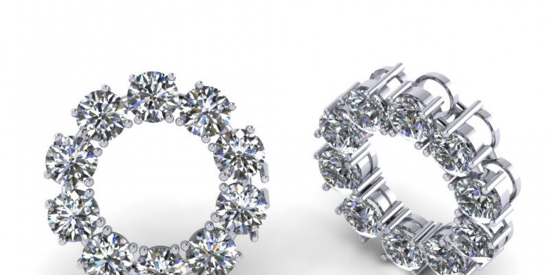 18ct White Gold Circular Diamond Pendant