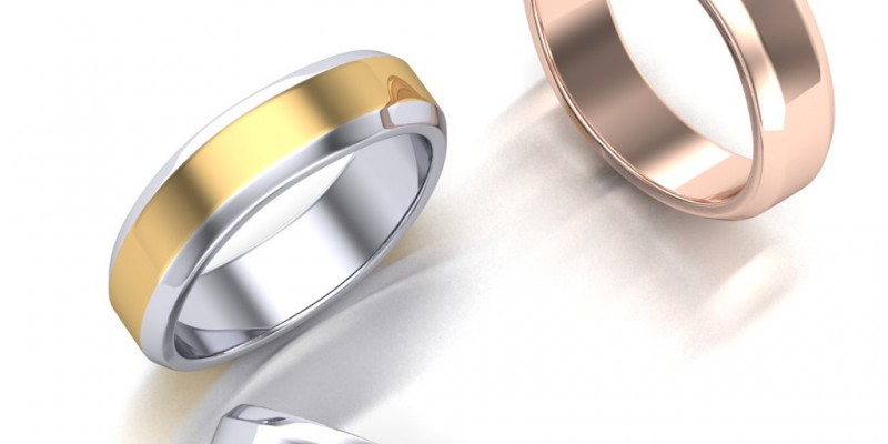 Gents WR 9 Rose Yellow and White Gold Twisted Wedding Ring