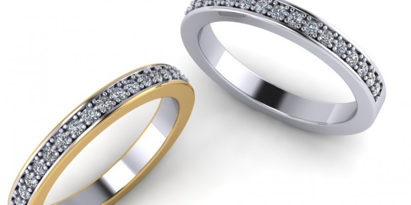 Ladies 18ct Yellow and White Gold Eternity Ring