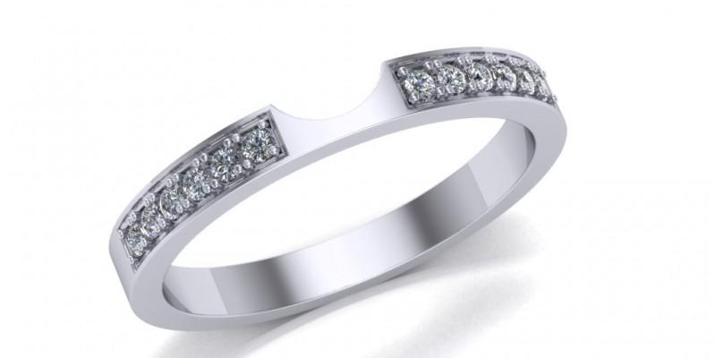 Ladies Shaped Platinum Wedding Ring