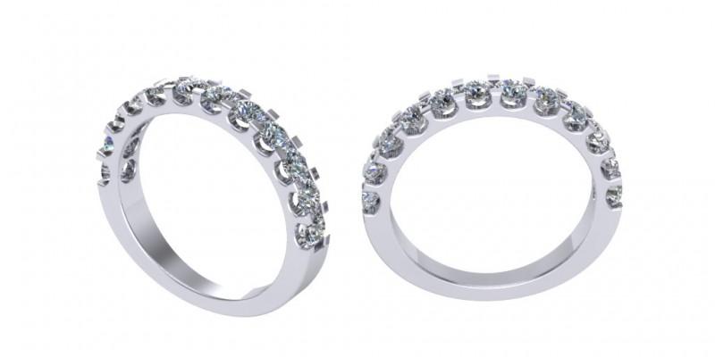 Platinum 12 stone Diamond Eternity Ring